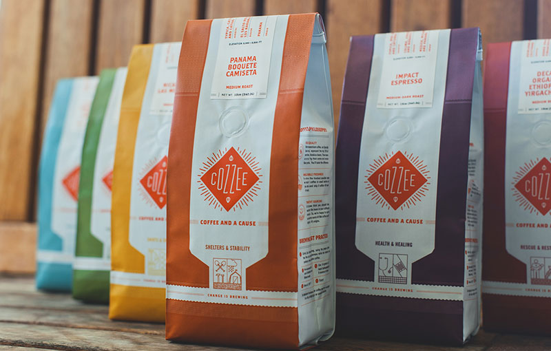 cozzee coffee brand packaging 2