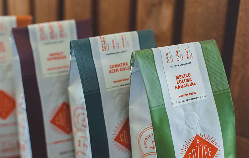 cozzee coffee brand packaging 3