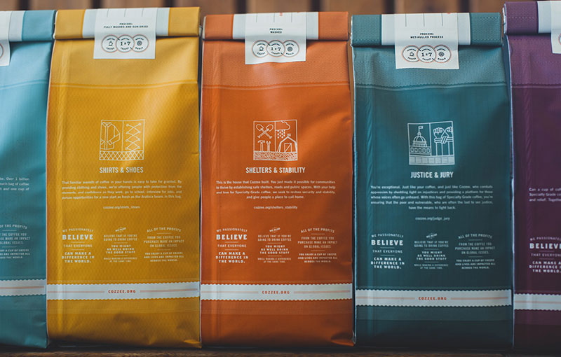 cozzee coffee brand packaging 4