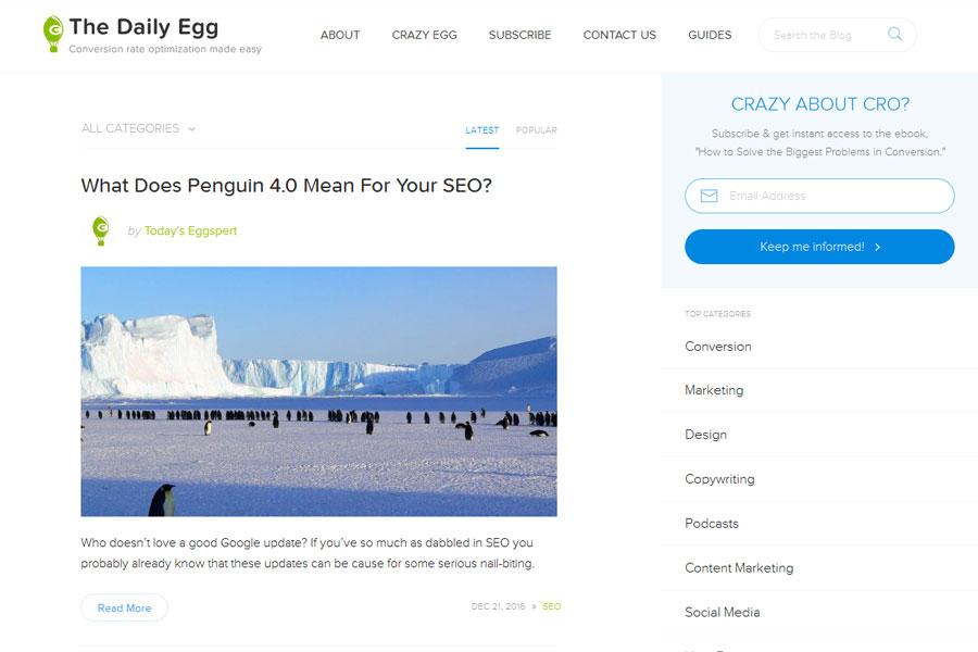 Crazyegg Blog