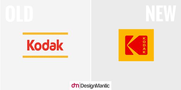 kodak old and new logo