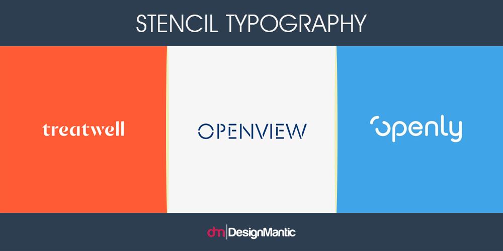 Stencil Typography