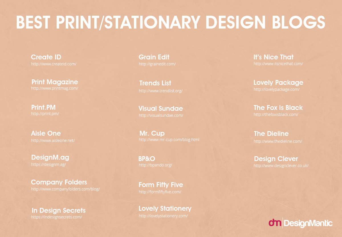 Best Print Stationary Design Blogs