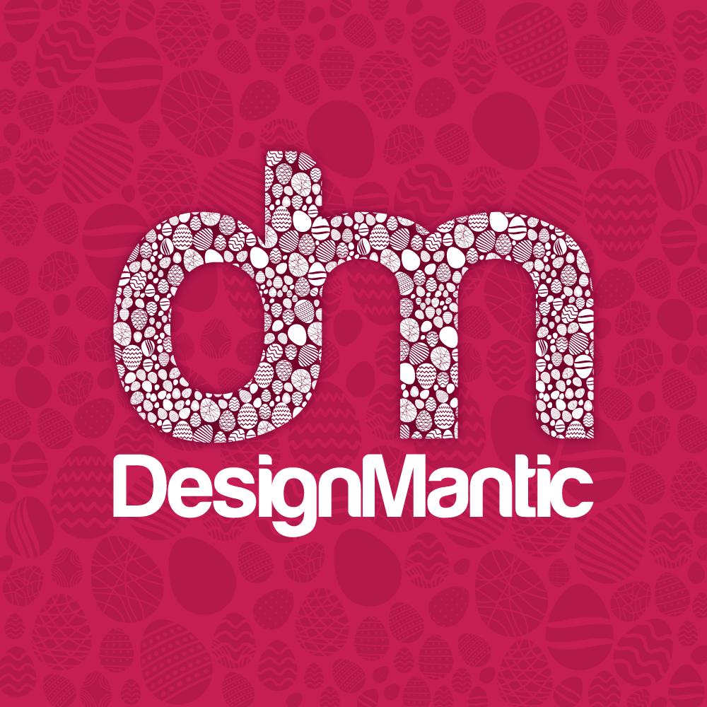DesignMantic Easter Logo Crimson