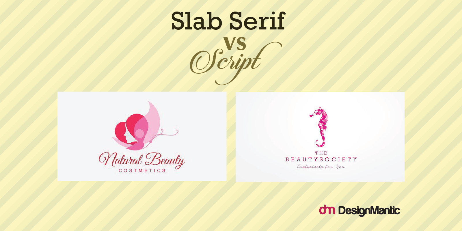 Slab Serif Vs Script Beauty Icons