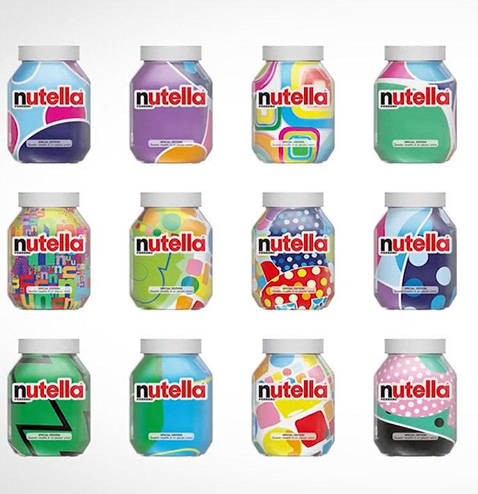 Nutella's Patterned Jars