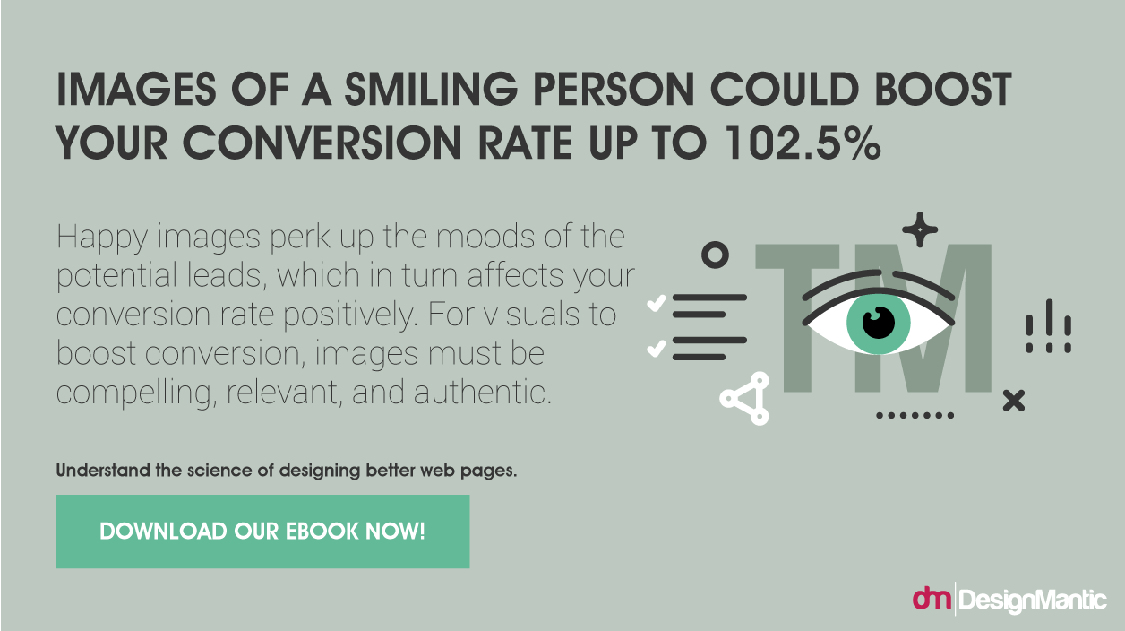 Use Happy images to boost conversion