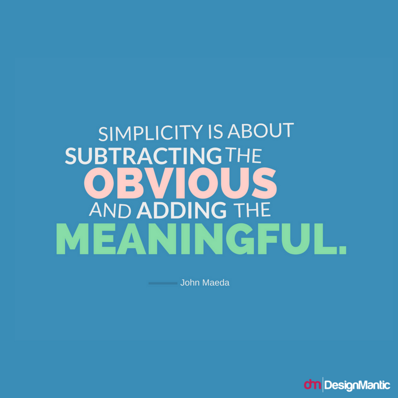 Be Meaningful Design Quote