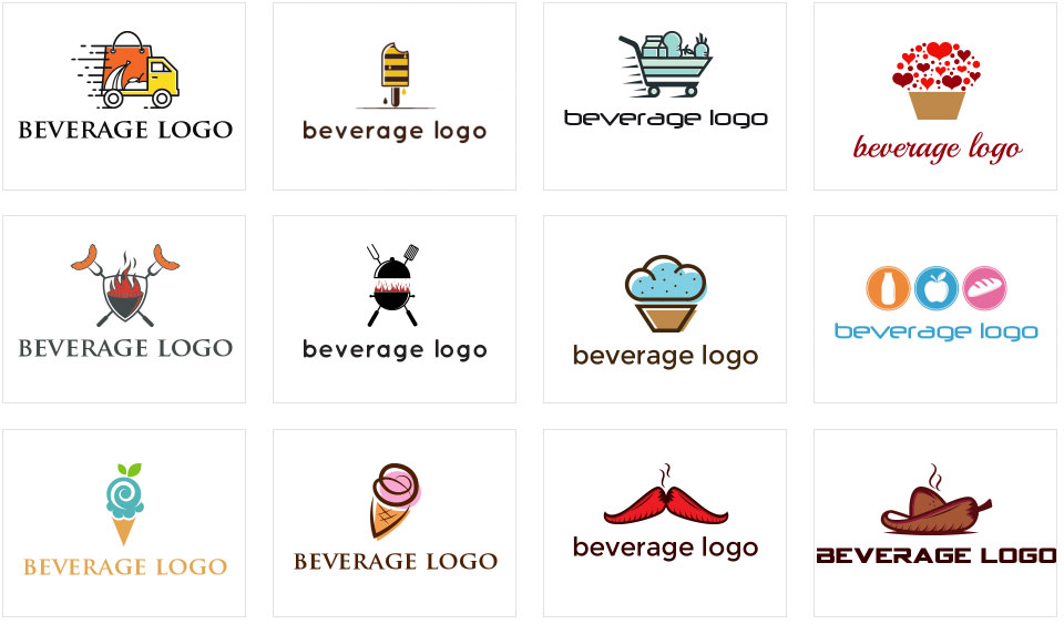 Beverage Logo Collage