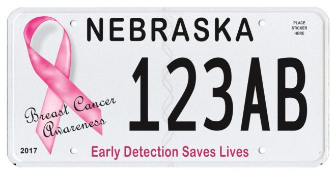 Breast Cancer Awareness The License Plate