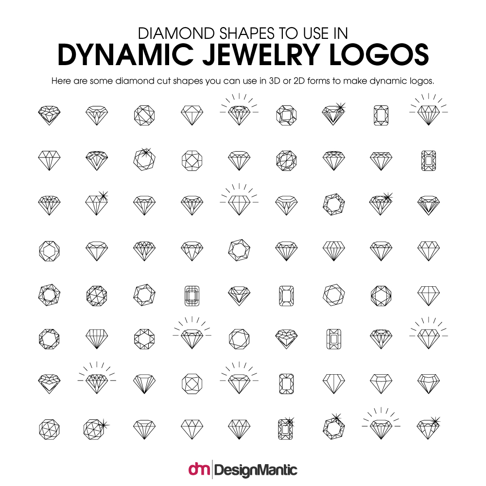 Diamond Shape Jewelry Logo