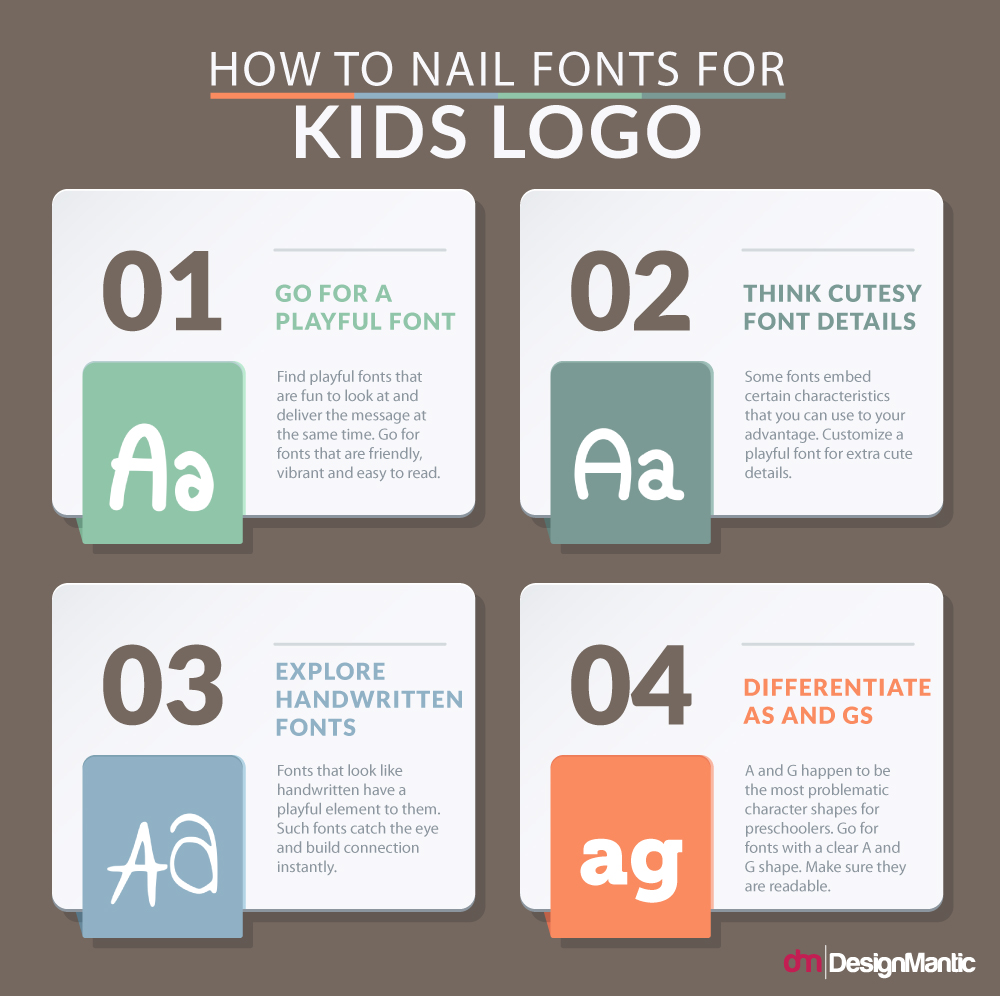 How To Nail Fonts For Kids Logo