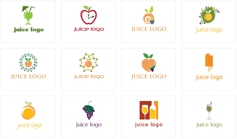 Juice Logo Collage