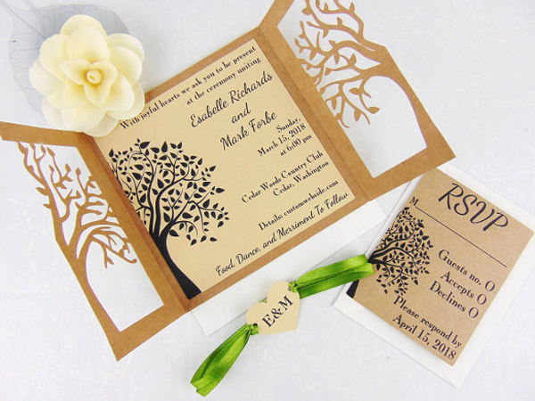 Laser Cut Wood Stationery