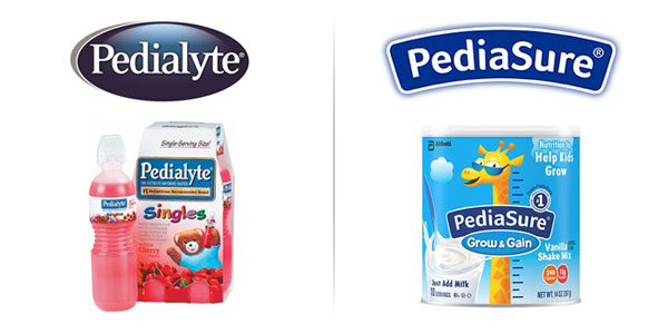Pedialyte And PediaSure Logo