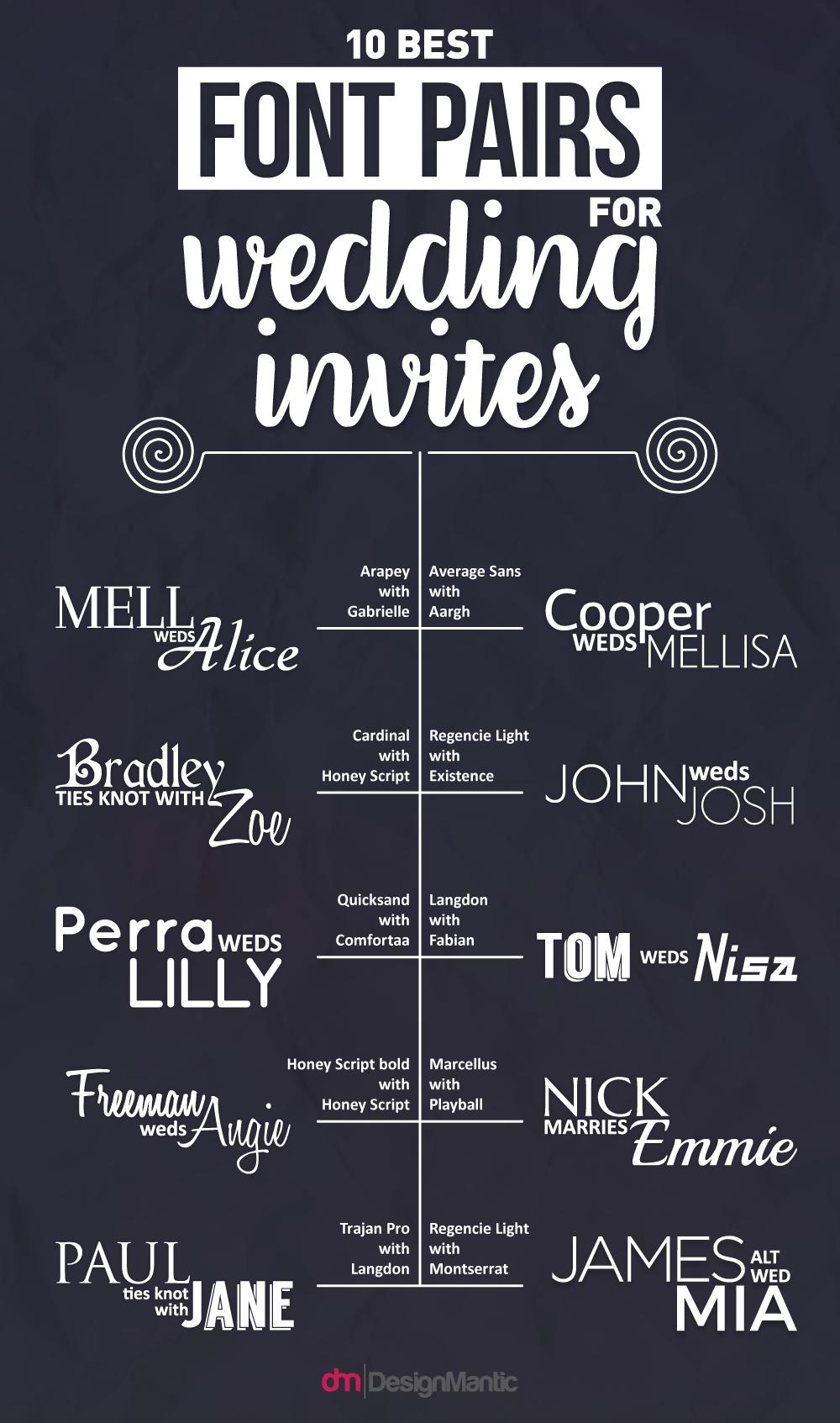wedding invites font