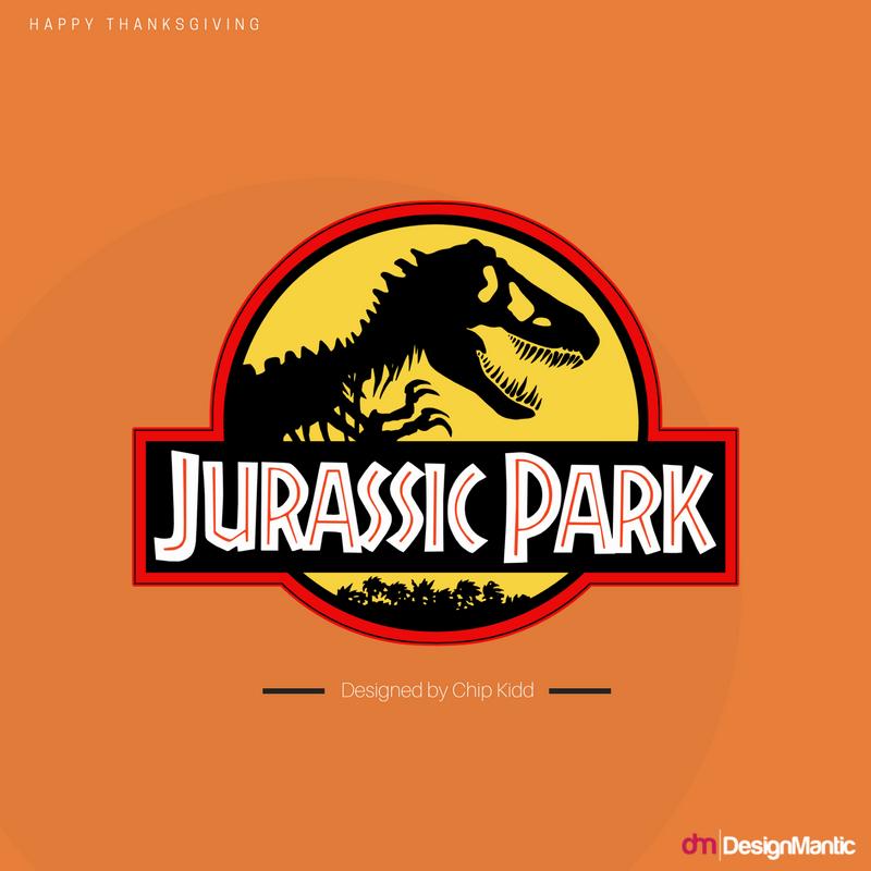 Chip Kidd Jurassic Park Logo