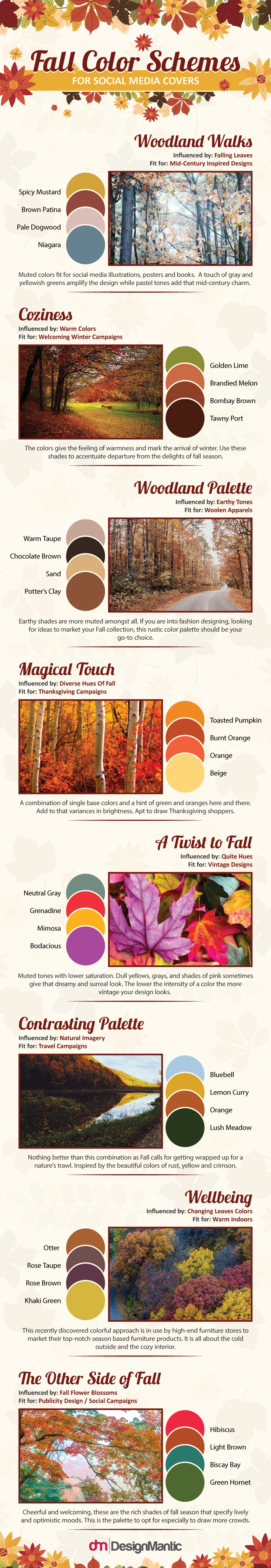 Fall Inspired Color Schemes