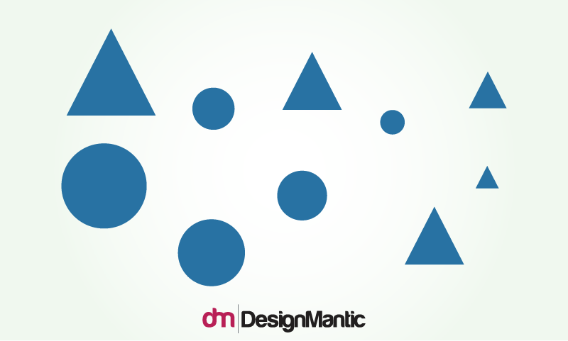 Visual Hierarchy Using Shapes