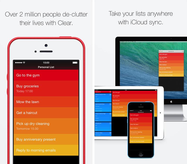 Clear Todos app
