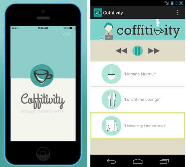 Coffitivity app