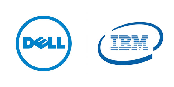 Dell vs IBM logo