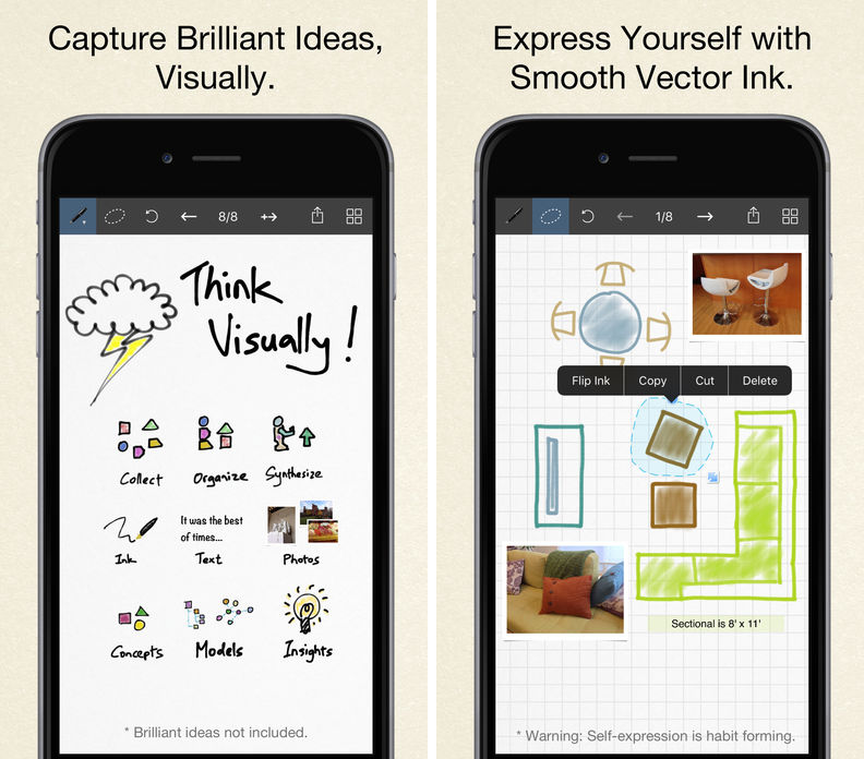 Inkflow Visual Notebook app