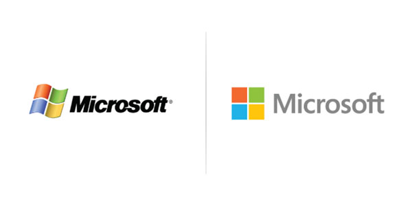 Microsoft Logo Past vs Present