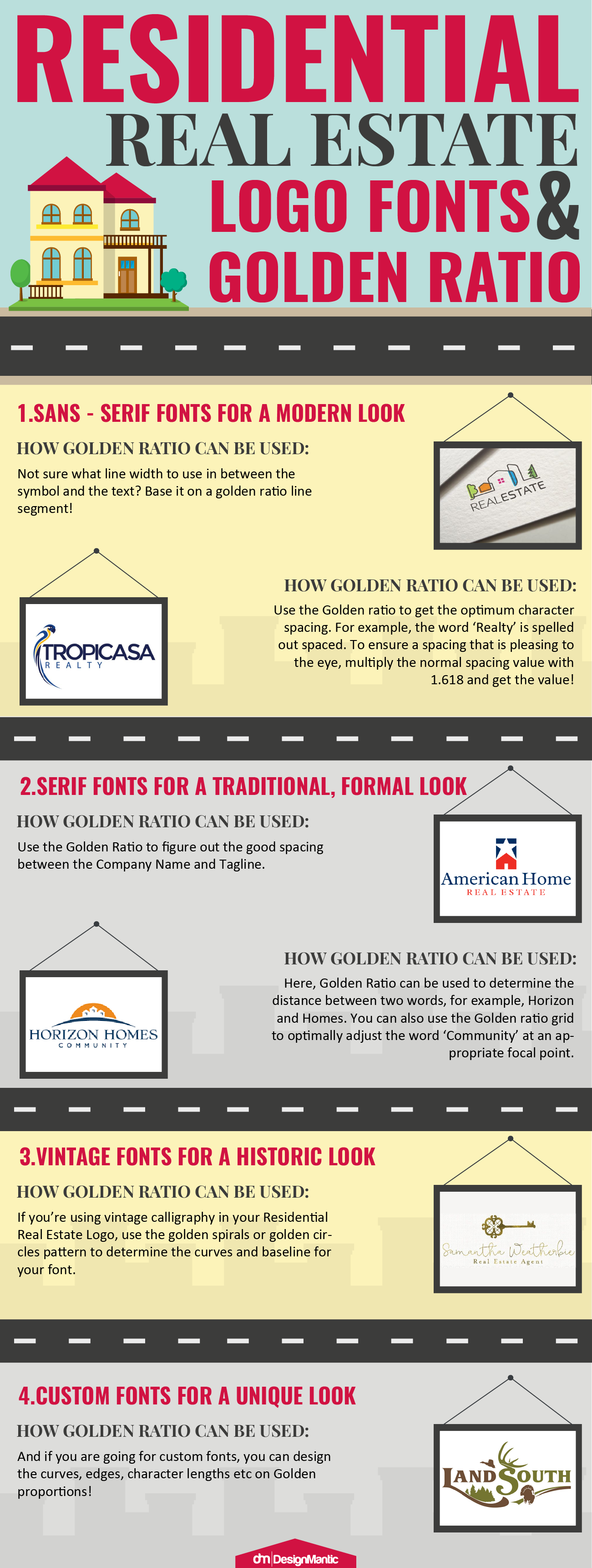 Residential Real Estate Logo Fonts And Golden Ratio