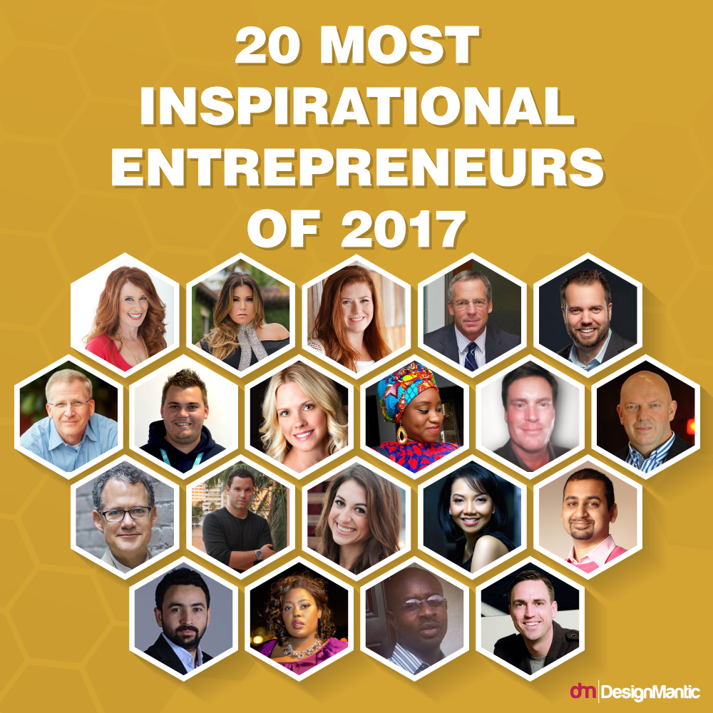 20 Entrepreneurs who inspired us in 2017