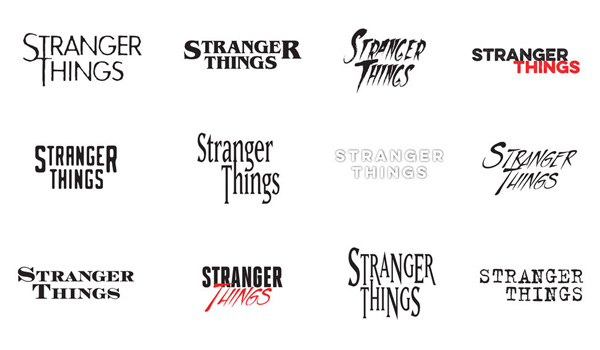 Stranger Things Logos
