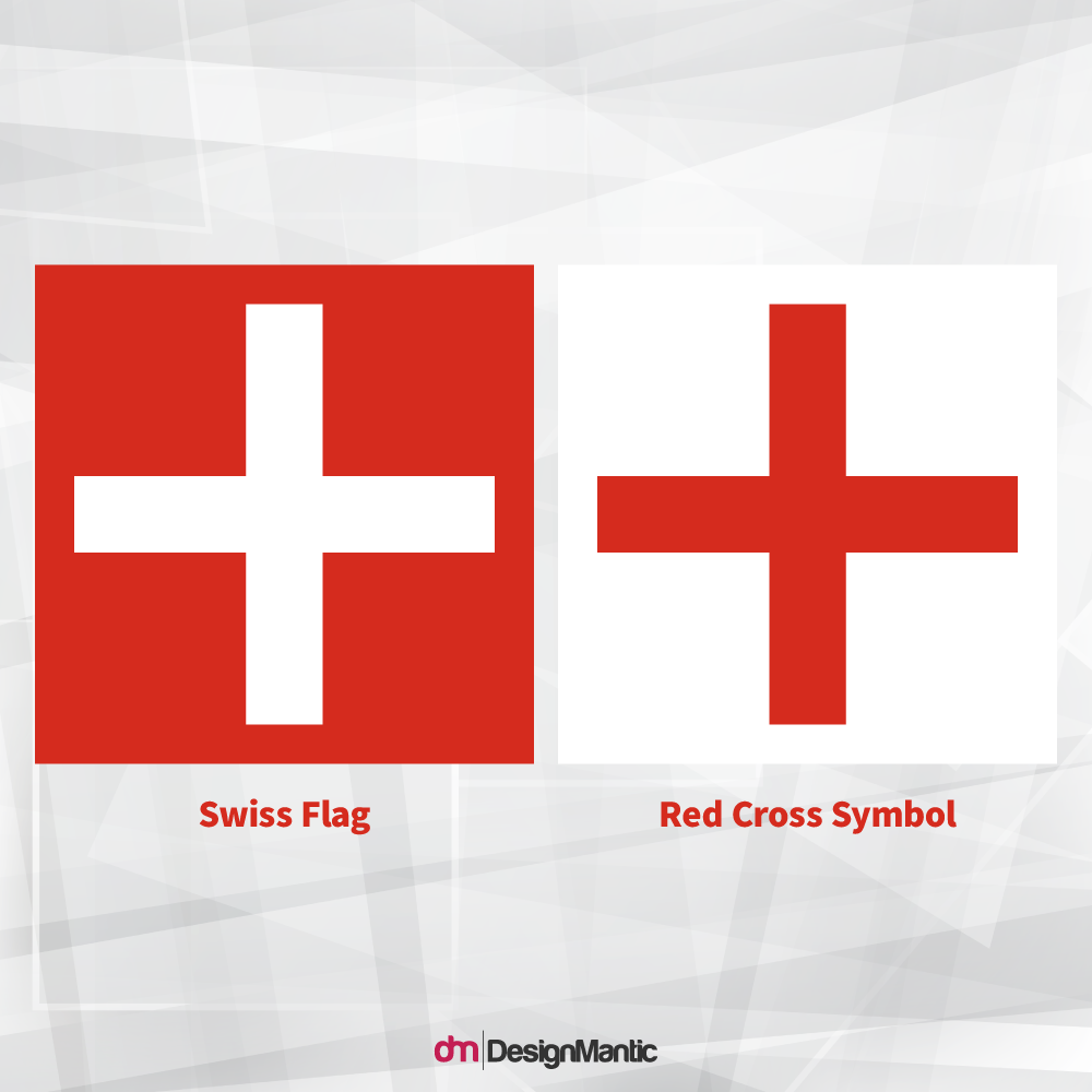 Swiss Flag vs Red Cross