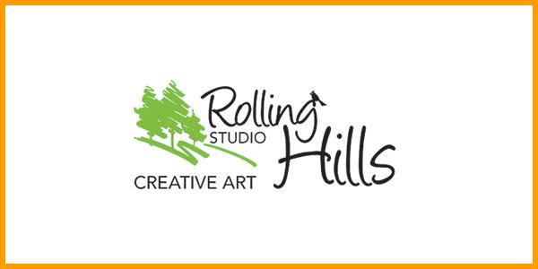 Rolling Hills Creative Art Studio Logo