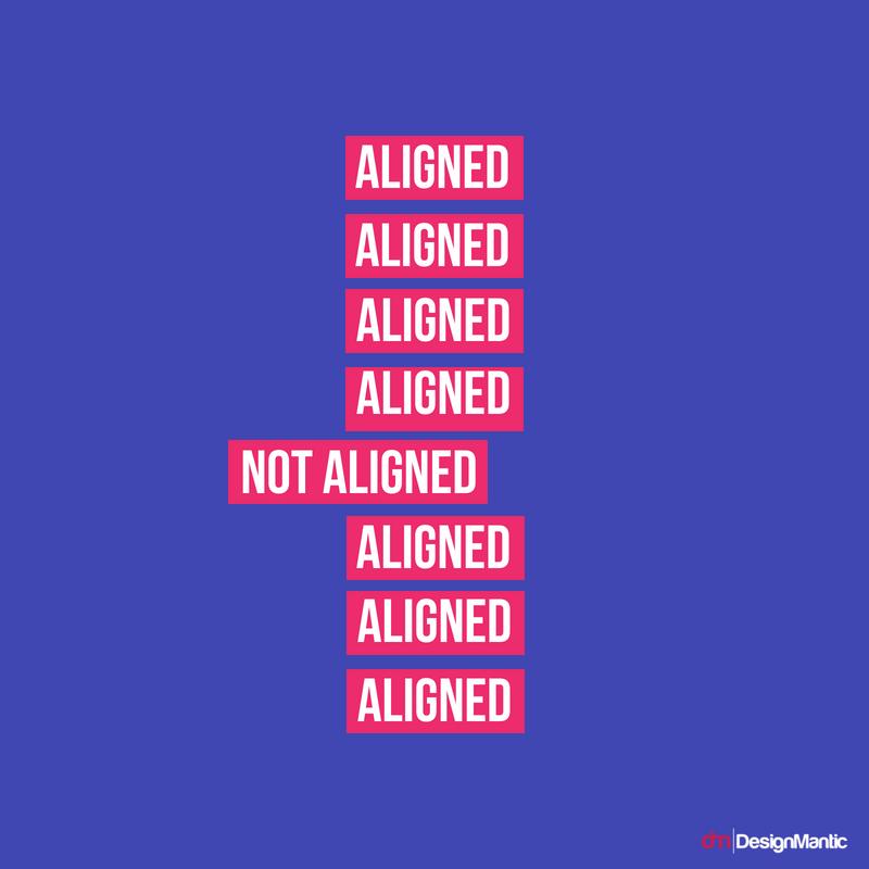 Aligned vs Not aligned