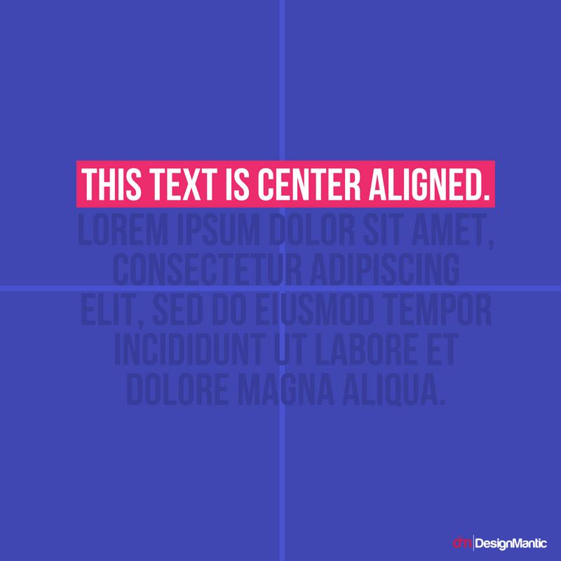 Center Aligned