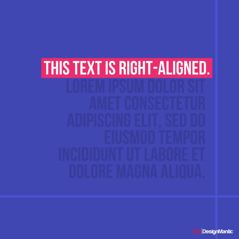 Right Aligned