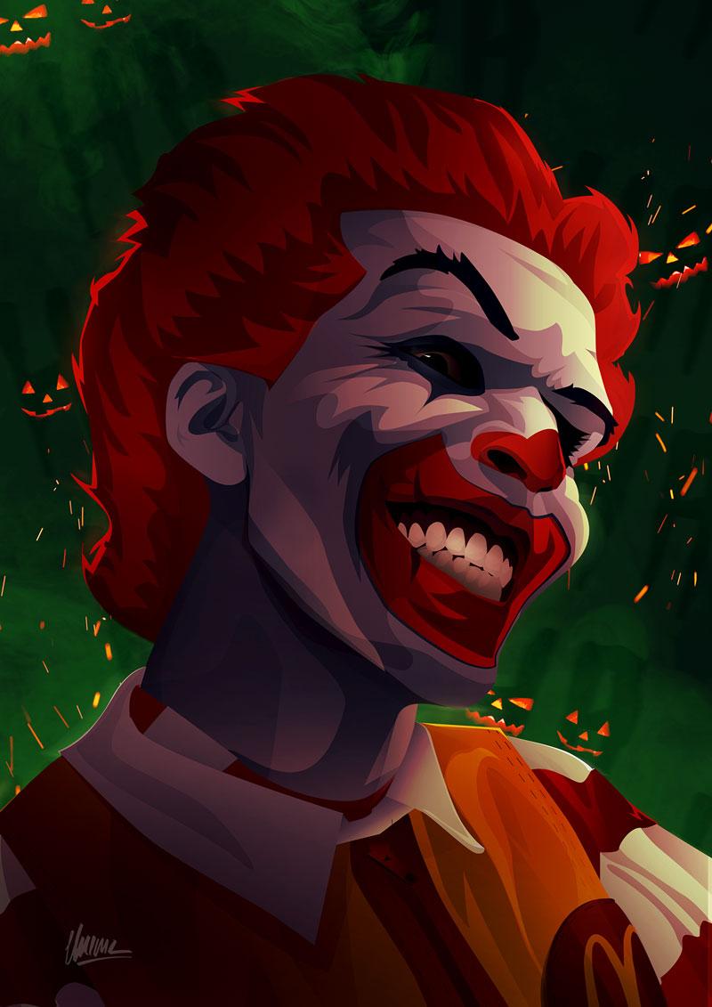 Halloween Affiche Evil Ronald