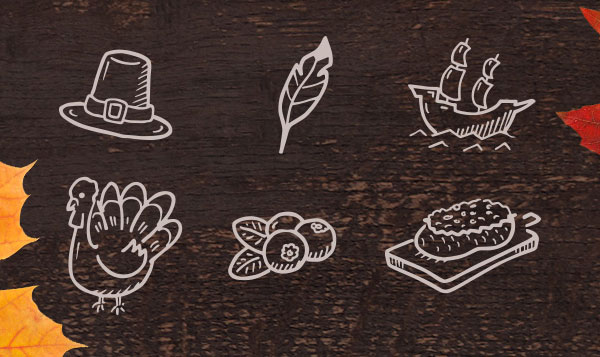 50 Hand Drawn Thanksgiving Icons
