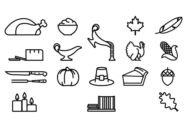 Free Thanksgiving Icons Font