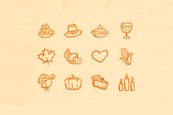 Hand drawn Thanksgiving Icons
