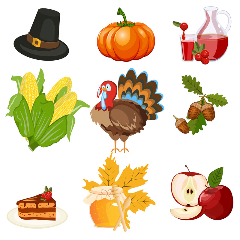 Holiday Vector Thanksgiving Icons