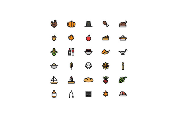 More and More Thanksgiving icons