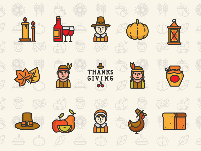 Thanksgiving icons Sergey Ershov