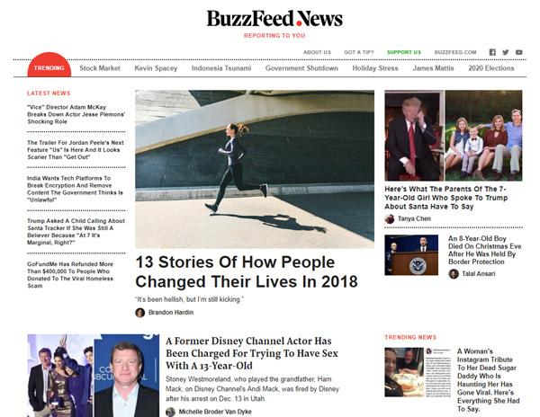 BuzzFeed News Website