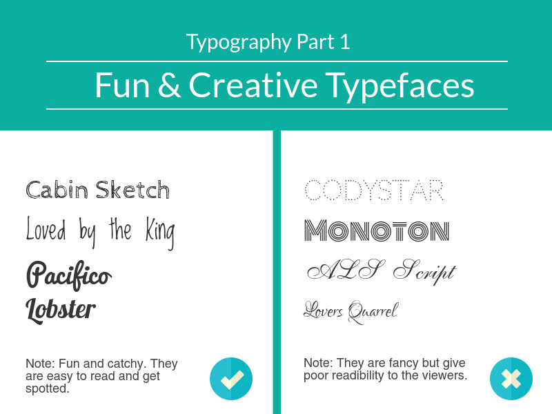 Fun and Creative Typefaces