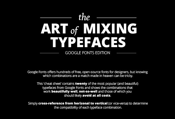 Google Fonts Mixing Guide