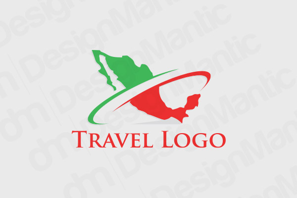 Red And Green Mexican Map Logo