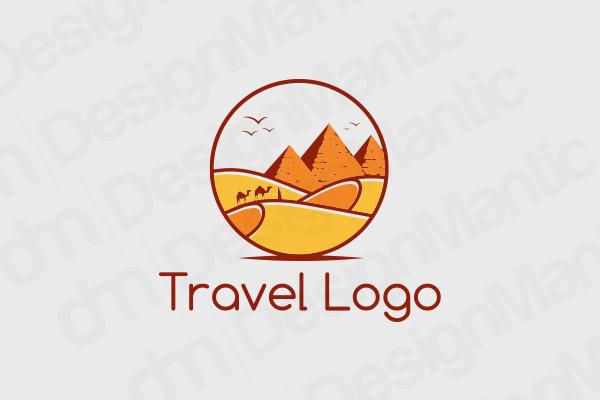 Circular Desert Logo In Orange Theme