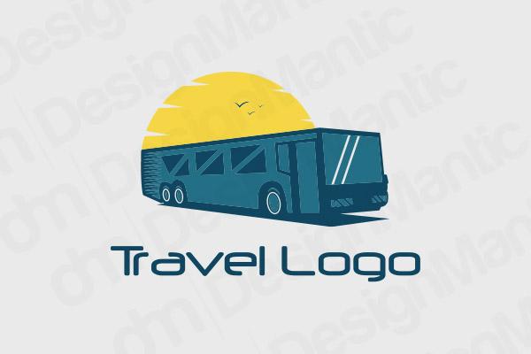 Dual Shade Bus Logo With A Sun