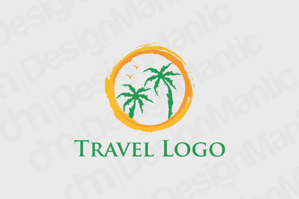 Palm Trees In A Circle Logo